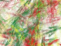 Multicolored fractal with chaotic brush strokes vector illustration