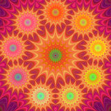 Multicolored fractal mandala background. Multicolored abstract computer generated fractal mandala background Stock Images