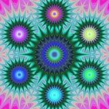 Multicolored fractal mandala background vector illustration