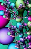 Multicolored fractal melkweg van de lavalamp Royalty-vrije Stock Afbeeldingen