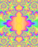 Multicolored fractal patroon stock illustratie
