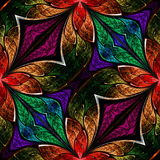 Multicolored fractal pattern in stained-glass window style. You. Can use it for invitations, notebook covers, phone case, postcards, cards, wallpapers and so on Royalty Free Stock Image