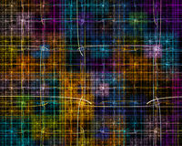 Multicolored fractal with squares and crossed lines ove Stock Photos
