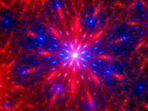 Multicolored fractal star Stock Images