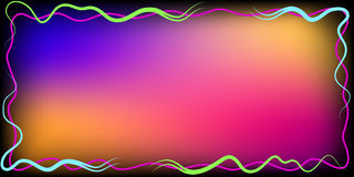 Multicolored frame with lines Royalty Free Stock Image