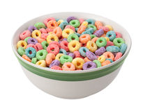 Multicolored Fruit Cereal Isolated Royalty Free Stock Photo