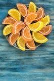 Multicolored fruit jelly Stock Photo