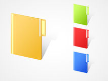 Multicolored full closed folders Royalty Free Stock Photography