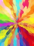 Multicolored funnel brush strokes background. Royalty Free Stock Photos
