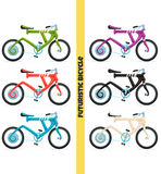 Multicolored Futuristic Bicycle Stock Photos