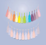 Multicolored garland Royalty Free Stock Images