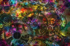 multicolored gears Stock Photography