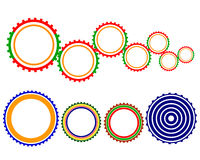 Multicolored gears Royalty Free Stock Photography