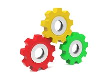 Multicolored gears Royalty Free Stock Image
