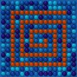 Multicolored gebieden, blauwe en rode kleuren 3d illustation vector illustratie