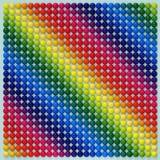 Multicolored gebieden 3d illustation vector illustratie