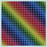 Multicolored gebieden 3d illustation stock illustratie