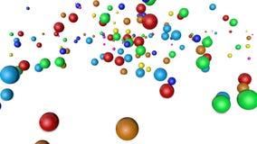 Multicolored gebieden die op witte achtergrond vallen geanimeerd 3d geef terug royalty-vrije illustratie