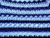 Multicolored gehaakt canvas knitting stock afbeelding