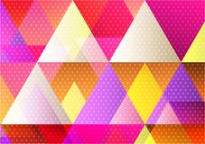 Multicolored geometric abstract background for your banner website or business, Vector Illustration modern design royalty free stock image