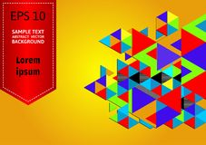 Multicolored geometric abstract vector background with copy space.  Royalty Free Stock Photos