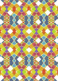 Multicolored Geometric Check Pattern Stock Images