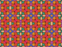 Multicolored Geometric Pattern Abstract Collage Royalty Free Stock Photo