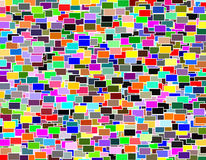 Multicolored geometric rectangle mosaic pattern Stock Photography