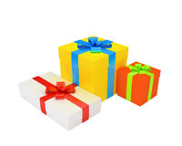 Multicolored gifts Royalty Free Stock Photos