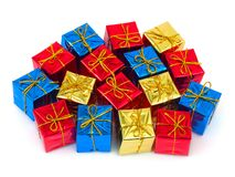 Multicolored gifts Stock Image