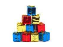 Multicolored gifts Stock Images