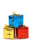 Multicolored gifts Stock Photos