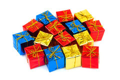 Multicolored gifts Stock Photography