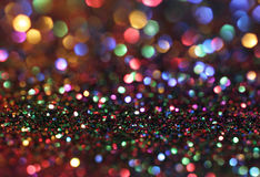 Multicolored Giltter Bokeh Background Royalty Free Stock Photo