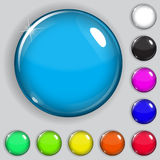 Multicolored glass buttons Royalty Free Stock Photography