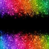 Multicolored glitter on black background. Vector Stock Photo