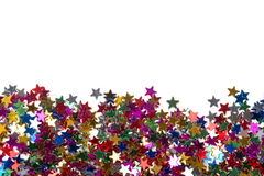 Multicolored glittering stars Royalty Free Stock Images