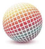Multicolored globe. Royalty Free Stock Photo