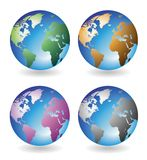 Multicolored globes Royalty Free Stock Photography