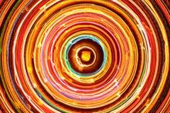 Multicolored Gloeiende Elektrische Cirkel Stock Afbeelding