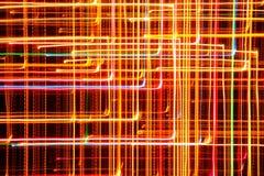 Multicolored Gloeiende Geometrische Lijnen Stock Foto