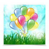 Multicolored glossy balloons Royalty Free Stock Photos