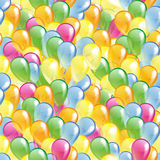 Multicolored glossy balloons pattern Stock Images