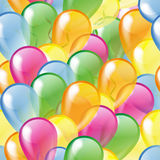 Multicolored glossy balloons seamless pattern Stock Photos