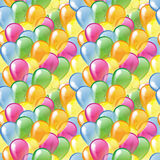 Multicolored glossy balloons seamless pattern Royalty Free Stock Photos