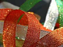 Multicolored glossy ribbons Royalty Free Stock Images