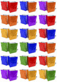 Multicolored, glossy shopping bags, doubles Royalty Free Stock Photography
