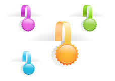 multicolored glossy tag labels Stock Images