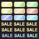Multicolored glossy vector stickers Royalty Free Stock Photo