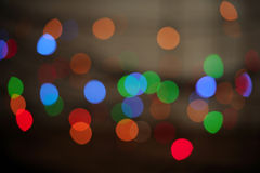Multicolored Glowing Bokeh Lights Background Stock Photo